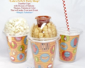 TailGate & Picnic TumbLeR Drink, PopCorn Cup Disposable Fun  Affordable Event Favor/ FrenchFrys/ Ice CrEaM -Pasta Salad-craft supplyEasy DIY