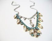 F L O R A Blue Necklace