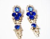 K A T I A Blue Rhinestone Earrings