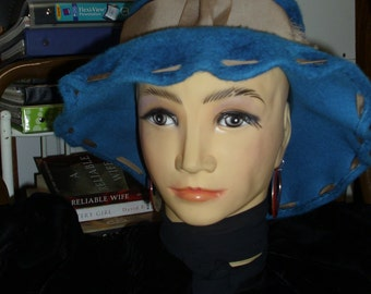 Italian Made DUCHESS Hat Mod 60's Style Funky and Different Fun Floppy Felt Hat