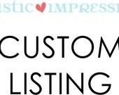 custom listing for jaclyn