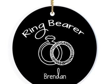 Personalized Christmas Ornament Ring Bearer