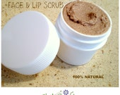 Chocolate Face & Lip Scrub - Organic Cocoa / Shea Butter Exfoliating Moisturizing Scrub -  .5 oz Sample