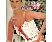 Digital Download Vintage Crocheted Flounced Peplum Camisole - Sexi Sweet Summer Top PDF Pattern File