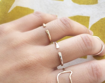 Dainty Cat Ring - Cat Jewelry - Gold Filled Cat Ring - Rose Gold Cat Ring - Silver Cat Ring - Cat Lover Gift
