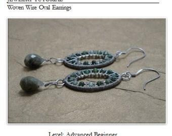 Jewelry Tutorial, Wire Weaving Tutorial, DIY, Earring Tutorial, Artisan Wire Jewelry, Woven Wire Oval Earrings, Almost Free Jewelry Tutorial