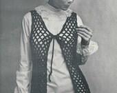 PDF - Crochet Lace Vest - INSTANT DOWNLOAD