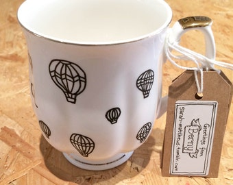 Bristol hand-illustrated, fine bone china tea-cup