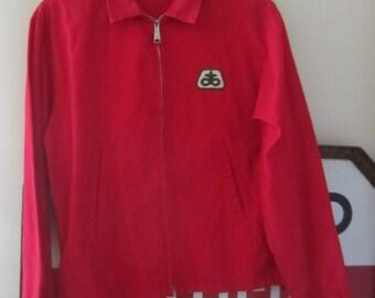 60s Louisville Sportswear Red Windbreaker Jacket, Men's M-L // Vintage Crop Jacket