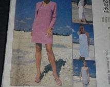 McCalls 2241 Misses Dress in Two Lengths Pants and Lined Shrug Sewing Pattern - UNCUT - Sizes 14 16 18