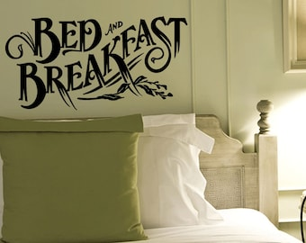 Wall Quotes Bed And Breakfast Vinyl Wall Decal Quote Removable Kitchen Wall Sticker Home Decor (459)