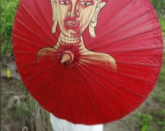 Hand Painted Red Parasol, Red Umbrella, Parasol, Umbrella, Parasols, Umbrellas, Wedding Parasol, Waterproof Parasol, Parasol Umbrella