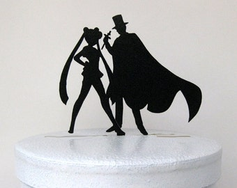 Wedding Cake Topper -Sailor Moon & Tuxedo Mask, Anime,
