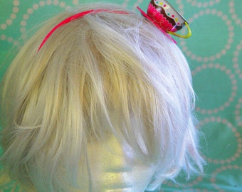 Tin Cake Tea Cup Hat -   Fasincator Alice  Headband