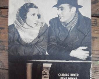 Love Affair cinegram leaflet. 1930's