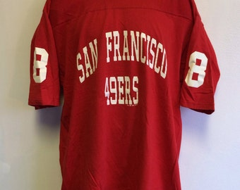 Forty Niners Jersey 1993 Vintage Shirt/ Steve Young #8 San Francisco 49ers Made In Usa Russell Jersey Tshirt/ Football Fan Sports