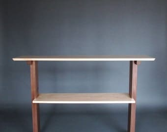 Buffet Table: Server, Kitchen Island, Breakfast Bar, Wood Console Table with Shelf- Handmade Wood Furniture, hall table/ sofa table