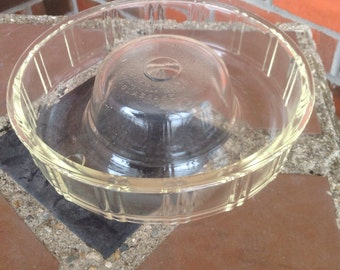 Vintage Glasbake Queen-Anne Glass Bundt Pan Or Jello Mold L414 (On Sale 10.00)