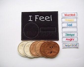 Feelings Felt Chart Emotions chart Multicolor words