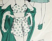 Rare 1940s LINGERIE Pattern Slips, Bra and  Shaped Tap Panties Pin Up Style Hollywood 1322 Vintage Sewing Pattern Bust 32