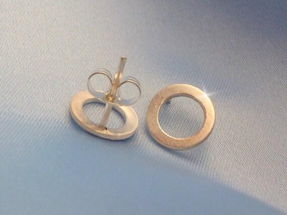 Circle Stud Earrings, Circular Earrings, Small Silver Open Circle Stud Earrings, Dainty Stud Earrings, Silver Stud Earrings, Small Hoops