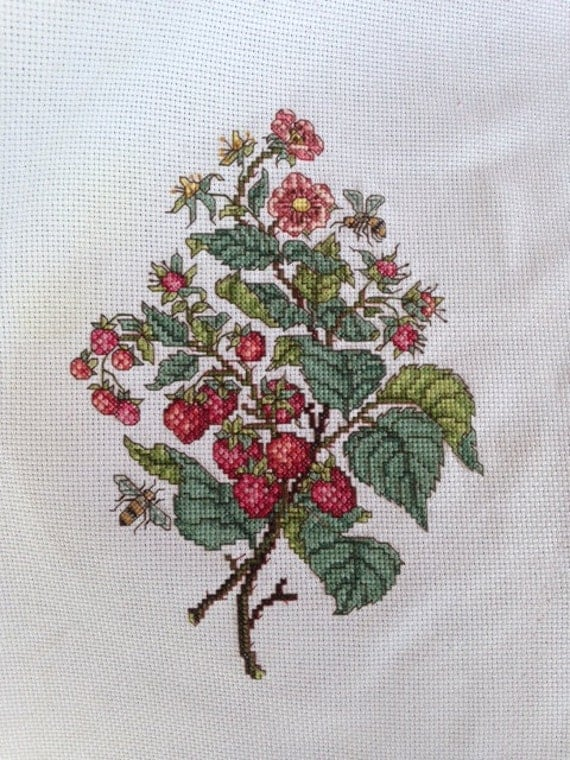 Wall Decor Cross Stitch : Fruit wall art or decor completed cross stitch by