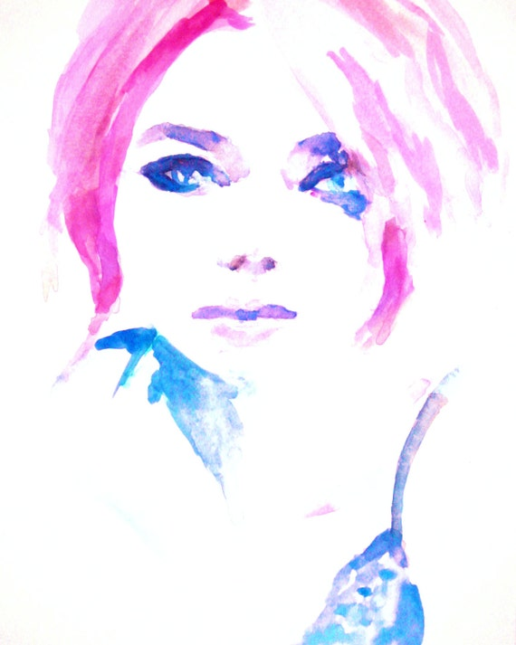 Print of original watercolor painting emma by by jessbuhmanart