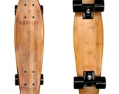 "Hollenbeck 22"" Cruiser Bamboo Skateboard - Gift for Him - Groomsmen Gift - Custom - Guy Gift - Personalized Gift-Hand Crafted-Short Board"