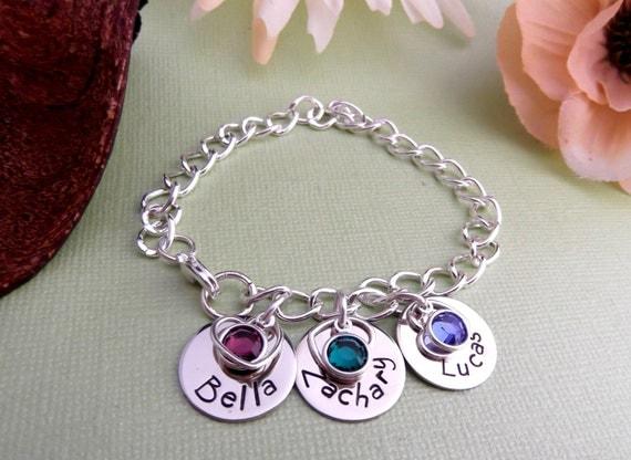 Hand Stamped Mommy Bracelet- Mommy Bracelet -Personalized Mom Bracelet- New Mommy Bracelet-  Hand Stamped Bracelet- Engraved Mom Bracelet