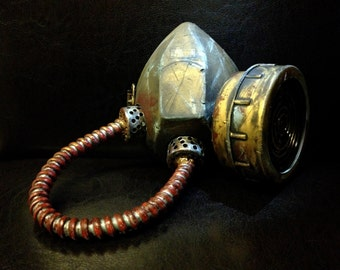 Fallout Wasteland Functional Gas Mask / Respirator, Steampunk Zombie Post-Apocalyptic Costume