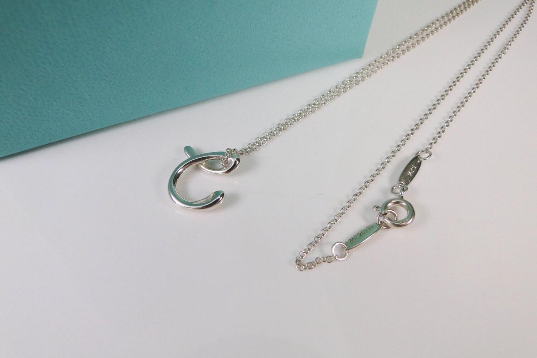 Tiffany co elsa peretti letter c alphabet pendant necklace for Elsa peretti letter pendant review