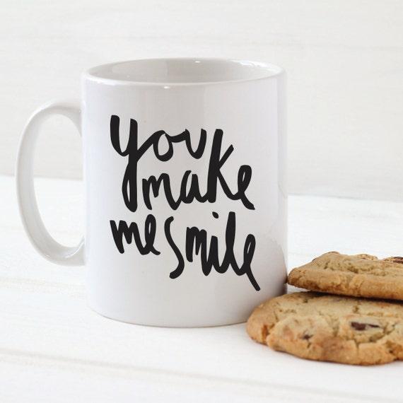 Tu Me fais sourire Mug - tasse en céramique élégant - cuisine cadeau