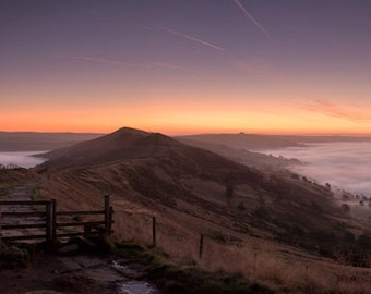 HUGE! The New Morning. LIMITED EDITION. Sunrise Mist Landscape Panorama Photography Print. 36 x 12 inch