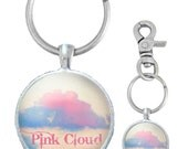 Custom AA 12 Step/Special Event/Celebration of Life Key Chain Pink Cloud Design Silver Tone  or Design of Your Choice