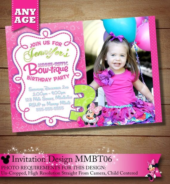 How To Create Minnie Mouse Invitations for great invitation ideas