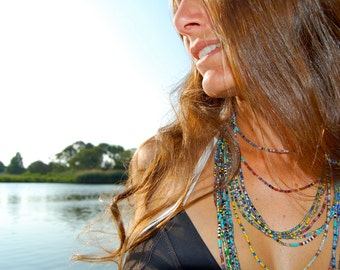 The Mimi- Extra- Long Multi- Strand Seed Bead Necklace