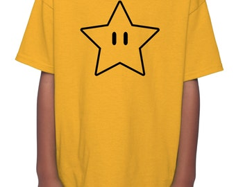 "Super Mario Bros ""Invincibility Star"" Children's T-Shirt (XS-XL)"
