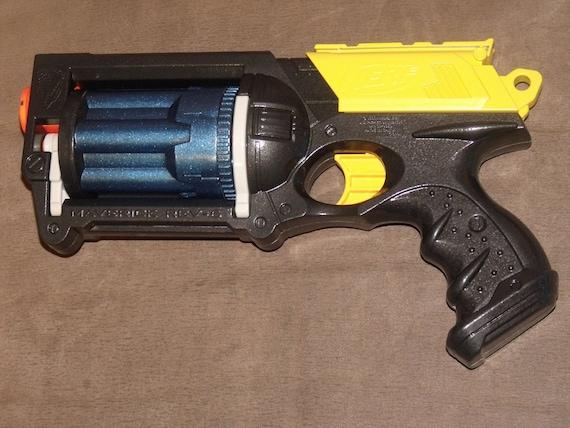 items similar to custom painted modified nerf maverick blaster gun in gunmetal black automotive. Black Bedroom Furniture Sets. Home Design Ideas