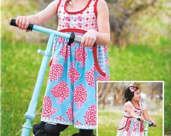 Elloise Dress & Knit Leggings Paper Sewing Pattern by Kati Cupcake Pattern Co.