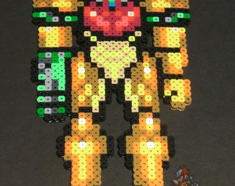 Perler Bead Samus Aran (Metroid)