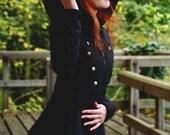 """Black Steampunk Coat """"Elisabetha"""""""