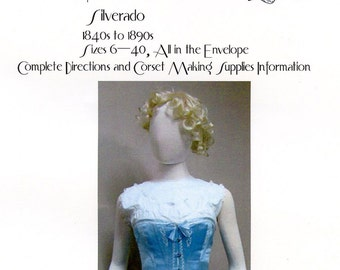Ladies' Victorian Bust-Core Corset sizes 6-40 Laughing Moon Bijoux Sewing Pattern #2 Silverado