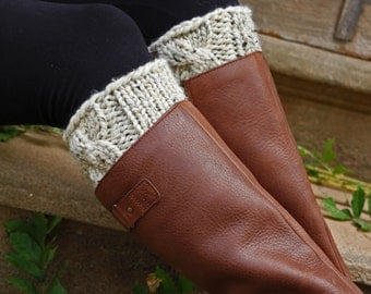 Boot Cuff Knitting Pattern - PATIENCE - a set of instructions to knit the boot cuffs - Digital Download