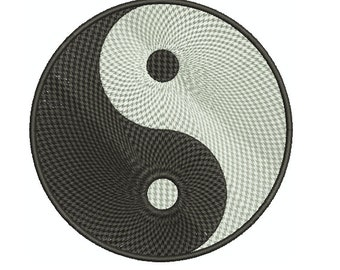 Machine Embroidery Design Instant Download - Yin Yang 1