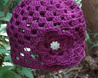 Pattern - WWD119 - Worsted Weight Crocheted Openwork Hat