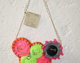 Lycra & Denim Necklace