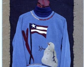 Pledge of Allegiance Flag Snowman Designer Kit - Used