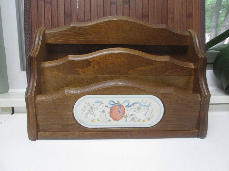 Creative Vintage Wood Desk Organizer