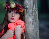 Custom Floral Crown, Flower Crown, Floral Headband, Flower Headband