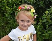 Custom Floral Crown, Flower Crown, Floral Headband, Flower Headband Child Girls